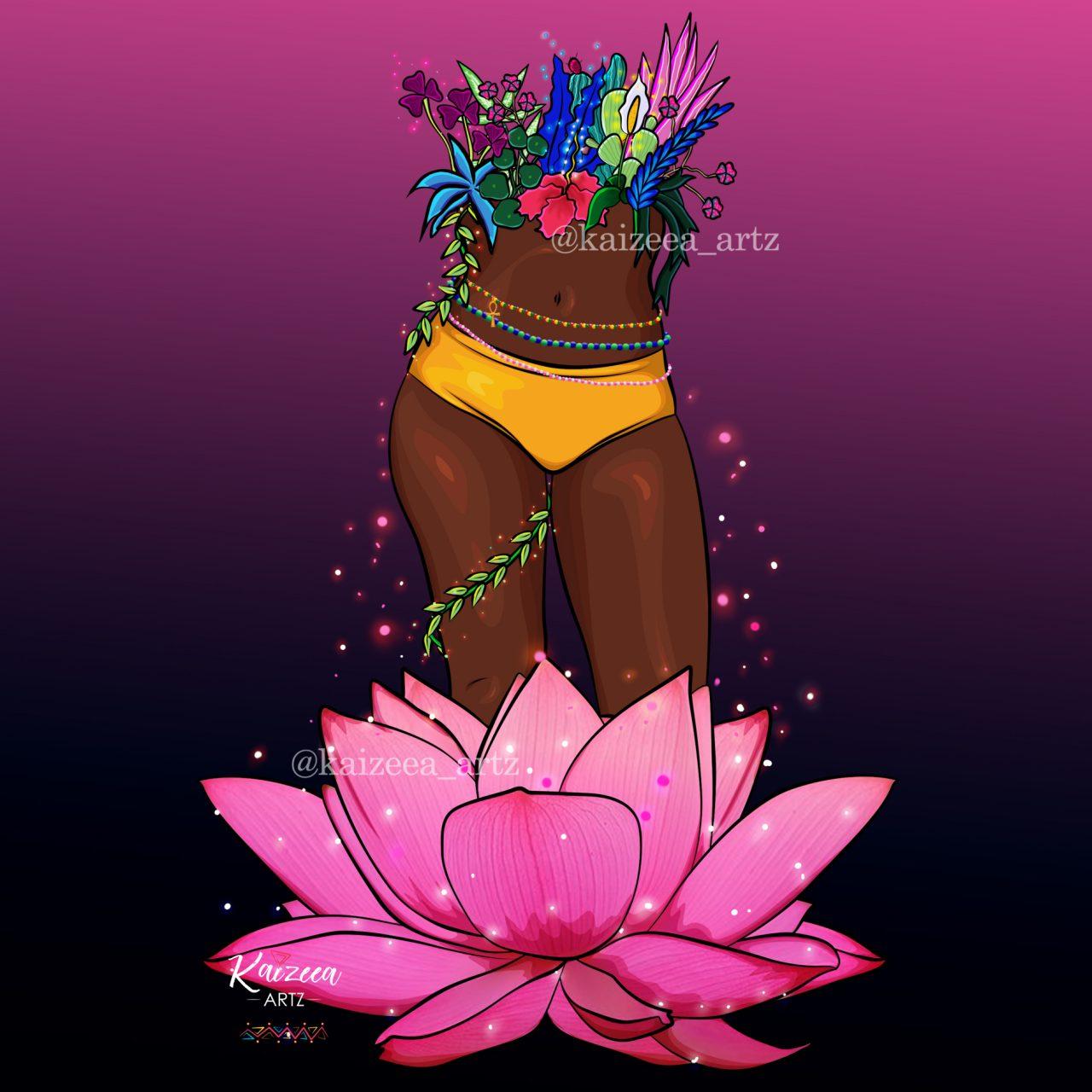 Kaizeea Artz Mauritius Mauricienne ile Maurice moris best art afro art afri art waist beads pinterest mauritian artist visual art digital art digital artist artiste numérique