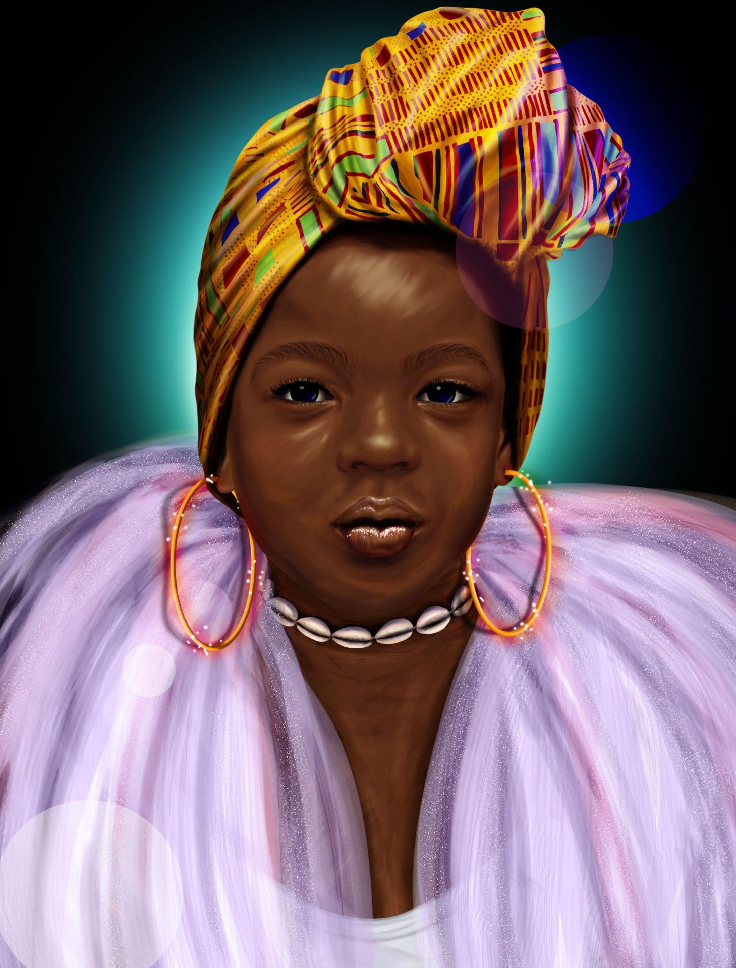 Goddess Mauritius Digital Art African Art visual art