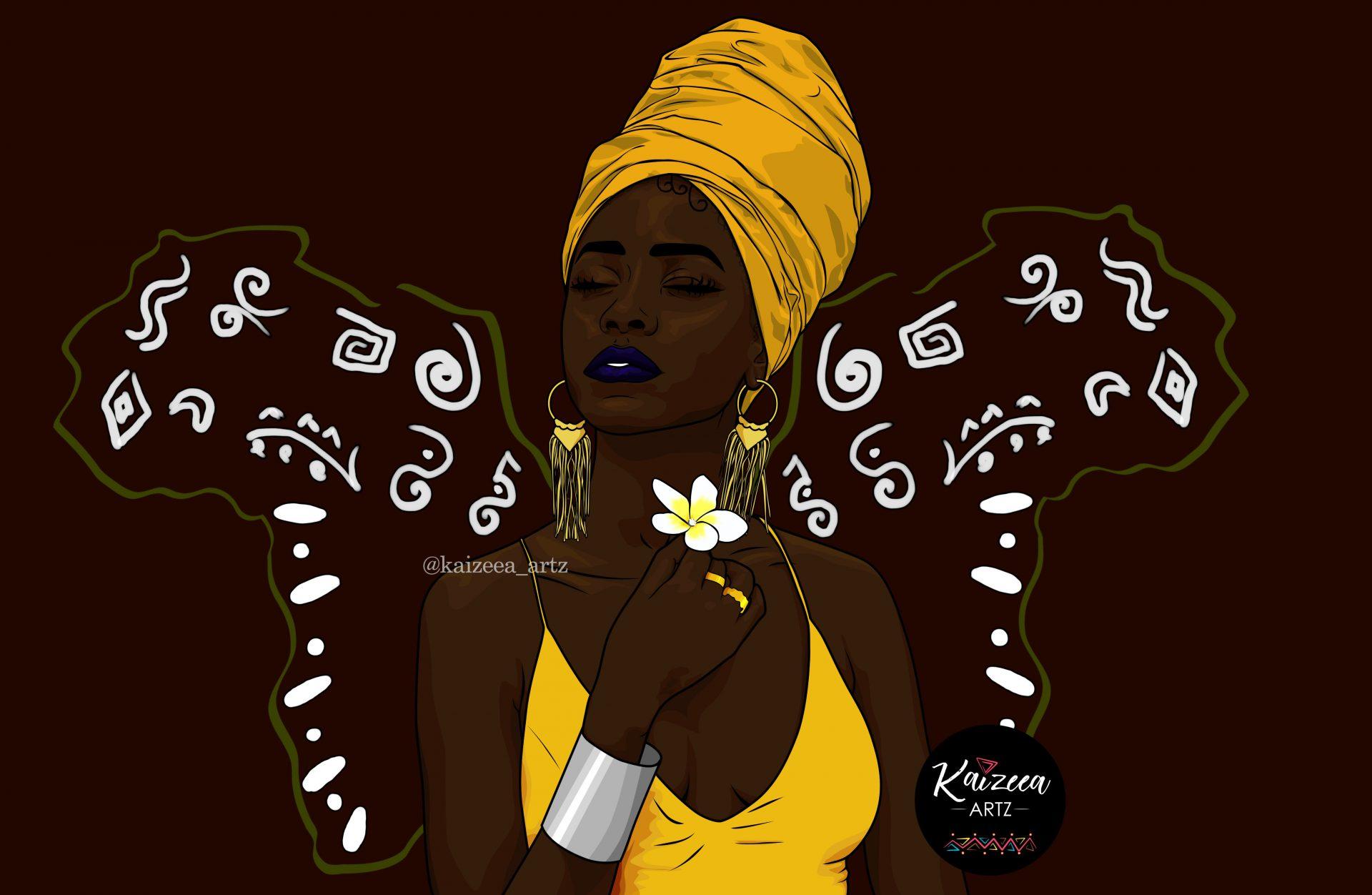 melanine melanin black lartnoir kaizeeartz artistemauricienne jaune lartdigital