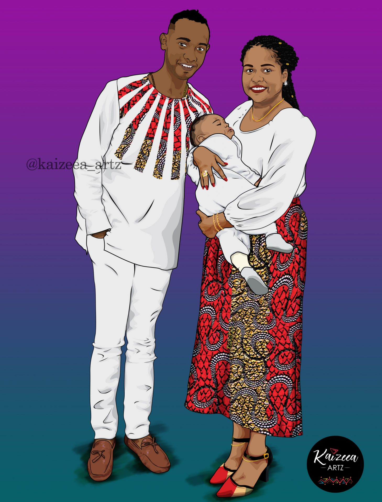 kaizeea_artz cartoonart mauritius mauritius waxfashion waxprints maxiskirt royalfamily africas fashion baby africanart shoes stiletto blackbusinesswomen artrepreneur afropreneur colorful toddler baby digitalart digitalartist prints pattern
