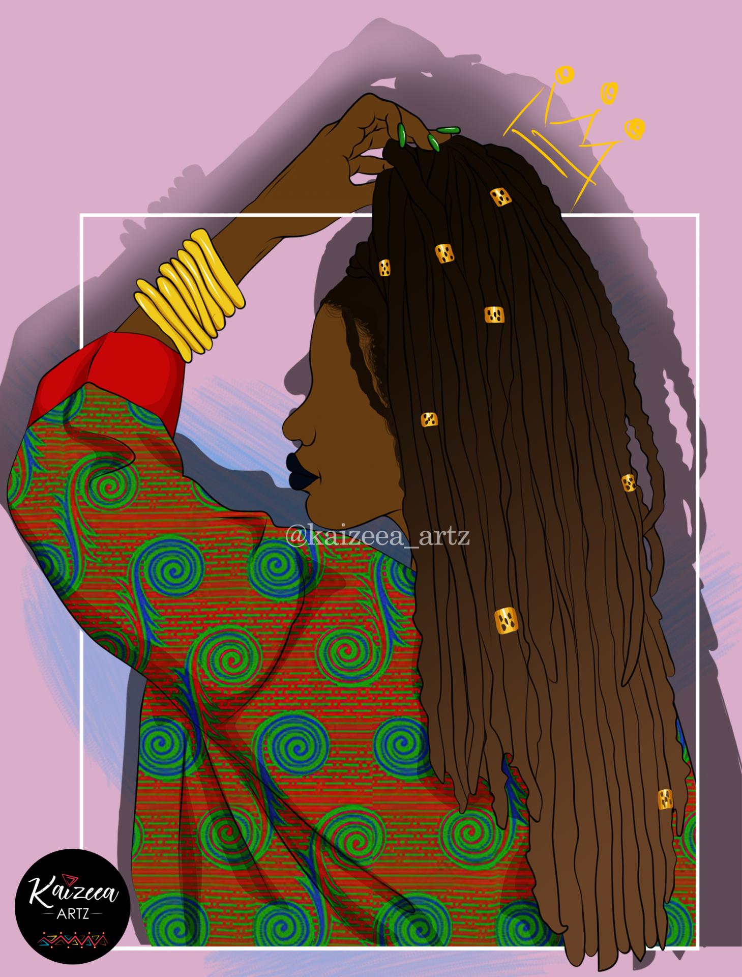 Kaizeea artz mauritius mauritian art mauritian artist digital art digital artist artist digital cartoon art vector bomber wax print african print merry xmas african cloth jacket pull red dread locs locsé rasta vecteur graphic design bracelet cuff jewelry handmade jewels accessories accessoire cheveux naturel manicure nail art green crown top art illustration drawing black artwork digital draw drawing while black art