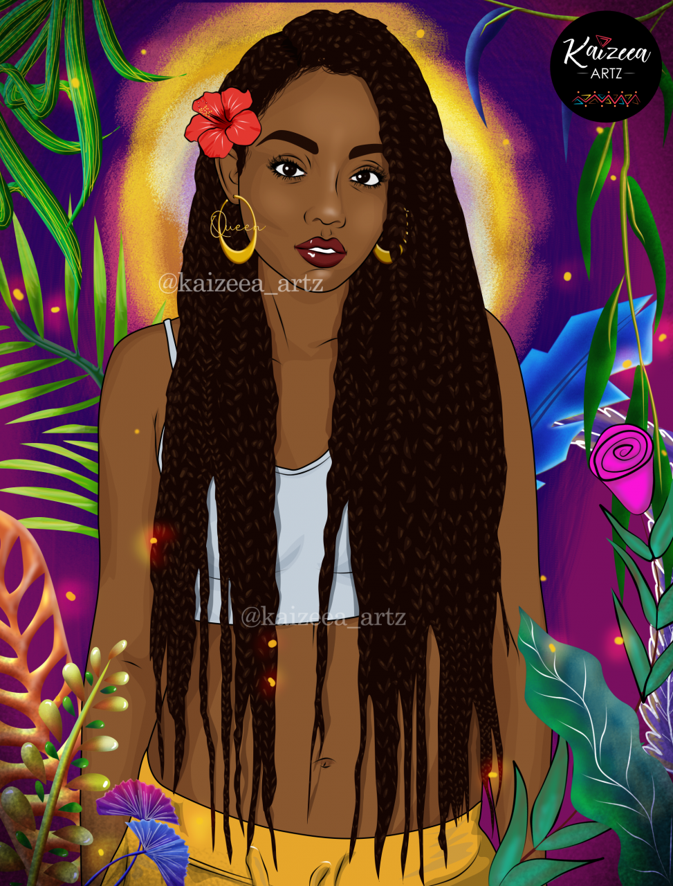 kaizeea artz ka black beauty black queen goddess afro locs locs style locksé hairstyliste coiffure coiffeuse locs dreadlocks natural hair women with locs locnation loc living men with locs loc movement instagram locs on instagram mauritius mauritian artiste artiste mauricienne lart digital digital painting cartoon art semi realistic plant fram colorful eucalyptus zodiac zodiac art baies berries hair accessories beads accessoire cheveux cheveux naturel rasta boobs art yarn eyelash extension faux cils summer été Wakanda african art afro art top black art top black artist african artist black woman art inspiration drawing while black 2020 Hibiscus red braids creol earring queen rose crop top jean palm alocasia eyes pants yellow tropical print